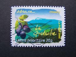 OBLITERE FRANCE ANNEE 2009 SERIE FLORE DES REGIONS DU NORD N°291 LA QUETSCHE ALSACE ADHESIF AUTOCOLLANT - Gebruikt