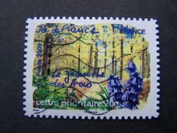 OBLITERE FRANCE ANNEE 2009 SERIE FLORE DES REGIONS DU NORD N°296 LA JACINTHE DES BOIS ILE DE FRANCE ADHESIF AUTOCOLLANT - Gebruikt