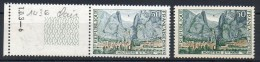 FRANCE 1965 - N° 1436 (50 C. Vert, Bleu-gris Et Ocre) - L'ensemble Des Teintes Sont Claires. - Curiosités: 1960-69 Neufs