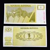 Slovenia 1 Tolar 1990.  European Banknotes. UNC. 1PCS. - Slovénie