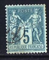 Oblitération Du Jour De L'An -  Cachet De Facteur 54 - 1876-1898 Sage (Type II)