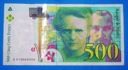 Billet De 500 Frs De 1994 Serie H019066986  état NEUF Paper Money, Port Gratuit Pour La France - 1992-2000 Dernière Gamme