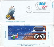 USA Aerogram, Science & Technology, Construction Equipment, Shipping, Aviation, Medicine, Art Film TV, Type Wr  (Z-4351) - Other