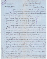 MANUFACTURE DE CARTONS   PIQUES -AINE    A  PELLEREY  (COTE D'OR )  1880 - France