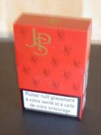 PORTE    CIGARETTE  EN METAL  JB ROUGE   TBE - Boites à Tabac Vides