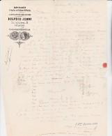 FACTURE - FABRIQUE DE POTERIE D'ETAIN -  DELPECH JEUNE -LETTRE AFFRANCHIE N° 29 -OBLITERATION GC 3982 - 1800 – 1899