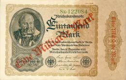 Deutschland, Germany - 1 Mrd. Mark, Reichsbanknote, Ro. 110 B,  ( Serie K ) VF ( 3 ), 1923 ! - 1 Mrd. Mark