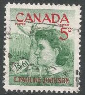Canada. 1961 Birth Centenary Of E Pauline Johnson. 5c Used - 1952-.... Reign Of Elizabeth II
