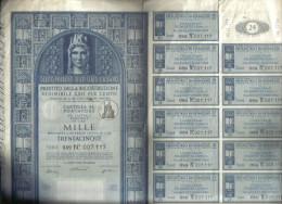 DEBITO PUBBLICO DELLO STATO ITALIANO PRESTITO DELLA RICOSTRUZIONE CARTELLA AL PORTATORE 1947  C.1552 - Sin Clasificación