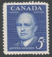 Canada. 1961 Arthur Meighen Commemoration. 5c Mint Hinged - 1952-.... Reign Of Elizabeth II