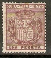 CUBA  TELEGRAFOS 1879 EDIFIL  46* - Cuba (1874-1898)