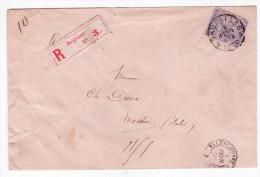 L De JB MOENS Affr. N°41 Recom. De BRUXELLES//1886 Pour Modène (Italie). RR - 1883 Léopold II