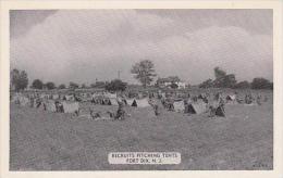 New Jersey Fort Dix Recruits Pitching Tents Dexter Press
