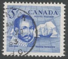 Canada. 1963 Sir Martin Frobrisher Commemoration. 5c Used - 1952-.... Reign Of Elizabeth II