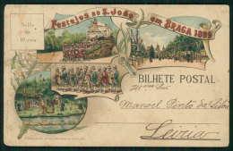 BRAGA / PORTUGAL Postal Tipo Gruss Recordação De BRAGA Festejos De S. João Em 1899. Old Postcard - Braga