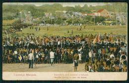 LOURENÇO MARQUES / MOÇAMBIQUE Postal Esperando Para Começar O Batuque. Natives Waiting To Star The Dance Old Postcard - Mozambique