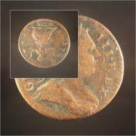 *PIECE GRANDE BRETAGNE 1/2 PENNY INVERSEE 1774 - Jeton Monnaie Médaille Collection Numismate Numismatique - 1662-1816 : Anciennes Frappes Fin XVII° - Début XIX° S.