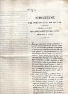 1849 ISTRUZIONE ALLEVATORI DI PECORE - Documenti Storici