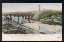 RB 976 - 1904 USA Postcard - Higk Bridge & Croton Waterworks - New York - SG 331 - 2c Rate Brooklyn To London - New York City