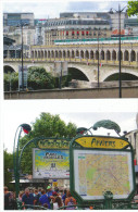 Lot De 5 Cartes Métro Paris , Cpm Neuves , Tirage Limité , Avec Coquilles D'impression Au Dos , Voir Scan - Cartoline