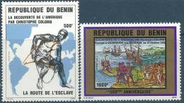 """Benin YT 699 Et 700 """" Découverte Amérique """" 1992 Neuf** - Bénin – Dahomey (1960-...)"""