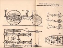 Original Patentschrift - Johann Macek In Gaggenau , 1892 , Antrieb Für Fahrrad Und Boot , Dreirad , Bicycle !!! - Maschinen