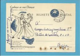FERREIRA DO ALENTEJO - BEJA - 28.09.1963 - SINGER - CONHEÇA AS SUAS DANÇAS - MARIQUINHAS De MOREIRA Da MAIA - PORTUGAL - Entiers Postaux