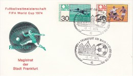 FUSSBALL-FOOTBALL-SOCCER- CALCIO, Western Germany, 1974, Special Cancellation !! - Coppa Del Mondo