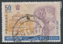 Pakistan. 1967 Coronation Of Shah Mohammed Riza Pahlavi Of Iran And Emporor Farah Of Iran. 50p Used - Pakistan