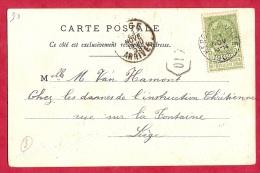 BR-5859    HERCK LA VILLE  1903       Zichtkaart (scan 2) - 1893-1907 Armoiries