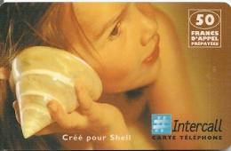 CARTE-PREPAYEE-50F-INTERC ALL-SHELL-ENFANT Et COQUILLAGE-GR ATTE- BE - Frankreich