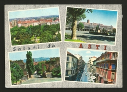Asti - Città - Saluti Da Asti - Vedute - Formato Grande - Viaggiata - Asti