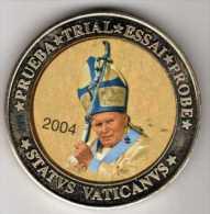 """Spécimen"" 10 Euros : Jean-Paul II 2004 : Statvs Vaticanvs : Prueba - Trial - Essai - Probe - Tokens & Medals"