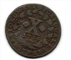 Portugal - X Reis (D.JOAO V ) 1735 , Cobre - VF - Portugal