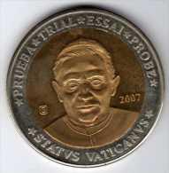 """""""Spécimen"""" 10 Euros : Jean-Paul II 2007 : Statvs Vaticanvs : Prueba - Trial - Essai - Probe - Other"""