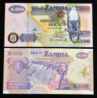 Zambia 100 Kwacha  UNC. Africa Banknotes. 1PCS. - Zambia