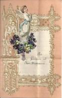 Superbe Lettre Gaufrée Avec Decoupi à Système - Ange - 1943 - Anges