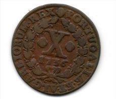 Portugal - X Reis (D.JOAO V ) 1736 , Cobre -VF - Portugal