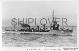 Torpilleur ANNAMITE (Marine Nationale)  - Carte Photo Marius Bar - Photo/bateau/schiff - Guerre