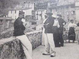 Lucéram   Route De Peira Cava CPA Alpes-maritimes - Cachet à Date Rural1905 Pour Tonnelier à Jonquières Par Saint André - Lucéram