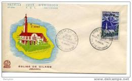 REUNION 1960  Eglise De Cilaos FDC Yv 352A - 1950-1959