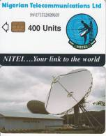NIGERIA - Earth Station, Nigerian Telecommunications Ltd First Chip Issue 400 Units(9NAIFIC), Chip Sie 37, Used - Nigeria