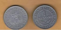BOLIVIA - 1 Boliviano 1987 Circulada   KM205 - Bolivia