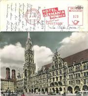 AK  München  (Freistempel Hotel Germania)            1954 - Affrancature Meccaniche Rosse (EMA)