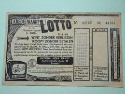 Kredietkaart LOTTO 23-8-59 Corthouts Leopold Winterslag ( N° 44765 Gevouwen/Plier - Détail Voir Photo ) ! - Billets De Loterie
