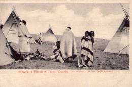 Canada..animée..Squaws In BlackFoot Camp..Indien..tipi..tepee - Andere