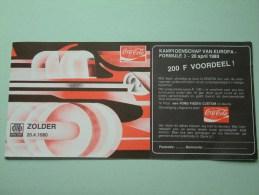 ZOLDER Omloop - Kampioenschap Van Europa FORMULE 3 - 20 April 1980 Uitnodiging ( 200 F Voordeel / Détail Voir Photo ) ! - Tickets - Vouchers