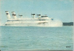 Hovercraft At Sea French Card Editions Mage 15 Rue De L'Aqueduc Paris Copyright Spadem Front & Back Shown - Aviation