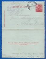 Serbien; PC Brief 10 Pa; 1915 Mit Feldpost  Und Stempel Reservekorps IV - Serbien