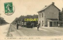 Cpa 35 Liffré, Mi-Forêt, La Gare, Beau Train Et Cheminots, Carte Pas Courante, Affranchie 1913 - Autres Communes